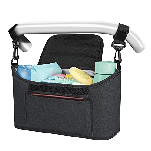 Yoofoss Kinderwagen Organizer Kinderwagentasche Multifunktionale und Praktische Aufbewahrungstasche...
