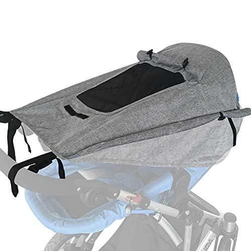 WD&CD Sonnensegel Kinderwagen mit UV Schutz 50+ und Wasserdicht, Double Layer Fabric mit...