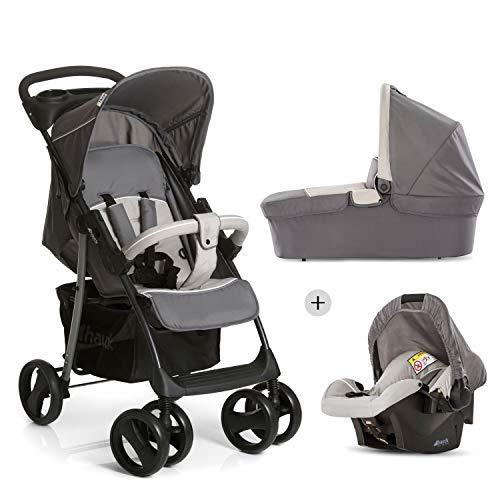 Hauck Shopper SLX Trio Set/Kombi 3 in 1 Kinderwagen/Babyschale/Sportwagen, Gr. 0, Babywanne mit...