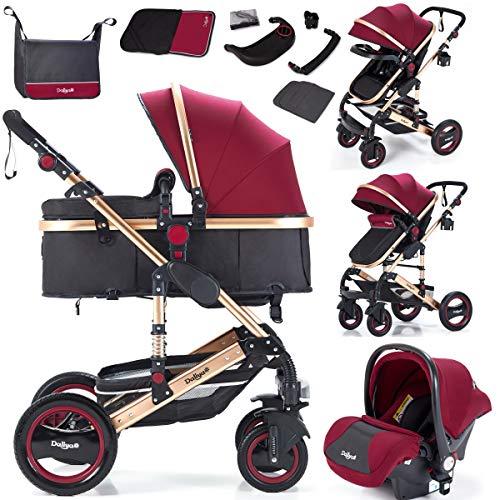 Daliya Bambimo 3in1 Kinderwagen Kombikinderwagen Riesenset 15-Teilig incl. Babywanne, Buggy,...