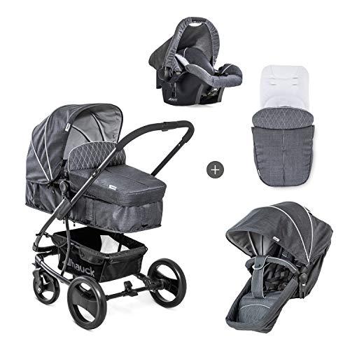 Hauck Pacific 4 Shop N Drive Kombikinderwagen 6 teilig bis 25 kg + Babyschale + Babywanne umbaubar...