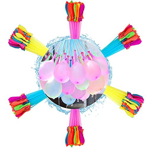 222 Stück Wasserbomben,Wasserbombem selbstschließend,Water balloons,6 Sträuße mit je 37...