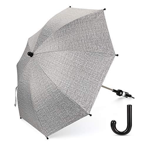 Luchild Universal Sonnenschirm Regenschirm für Kinderwagen & Buggy UV Schutz 50+ Babywagen Schirm...