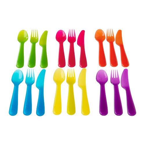 Ikea KALAS -18- Teiliges Besteck- Set Farblich Sortiert