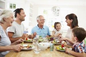 die erste gemeinsame Mahlzeit fördern